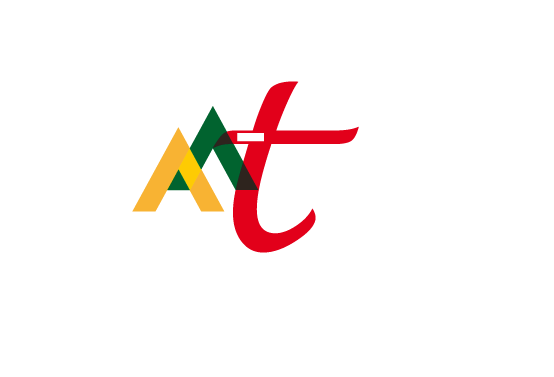 white logo of aa-translation agency